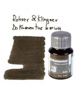 Rohrer & Klingner DOKUMENTUS BROWN (Tintero 50 ml)