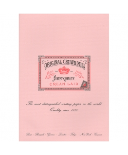 Original Crown Mill Classic Laid bloc A4 pink