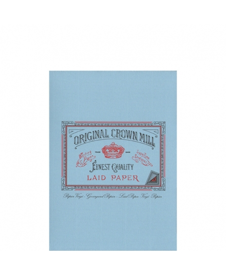 Original Crown Mill Classic Laid bloc verjurado A5 azul
