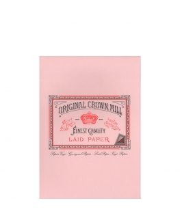 Original Crown Mill Classic Laid bloc A5 pink