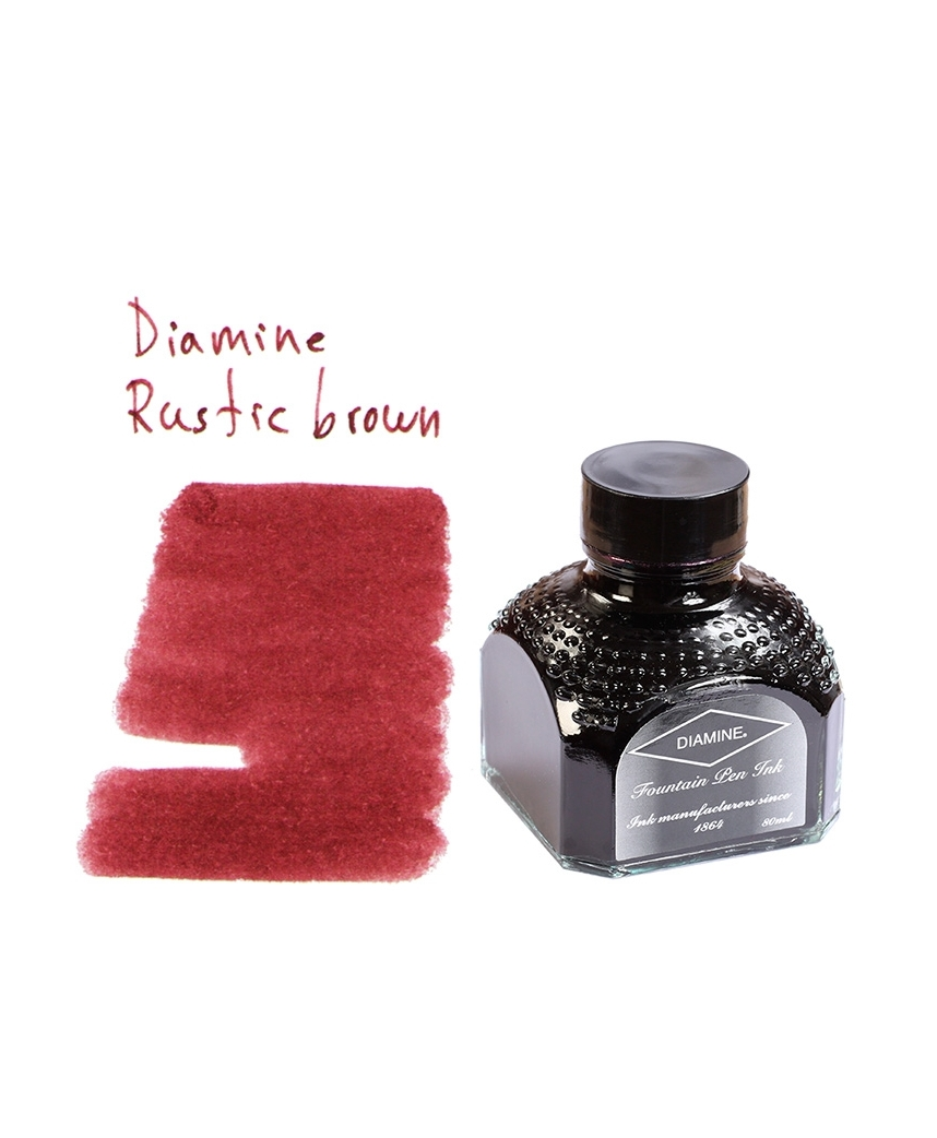 diamine rustic brown 80 ml bottle of ink arlepo