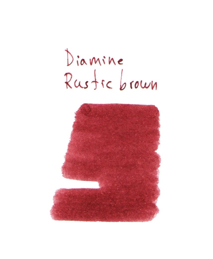 diamine rustic brown 2 ml plastic vial of ink arlepo