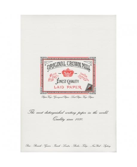 Original Crown Mill Classic Laid bloc vergé A4 blanche