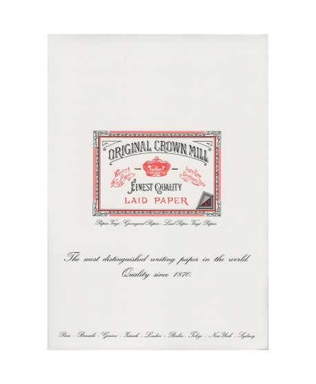 Original Crown Mill Classic Laid bloc A4 white