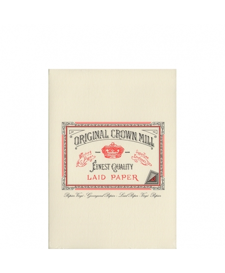 Original Crown Mill Classic Laid bloc A5 cream