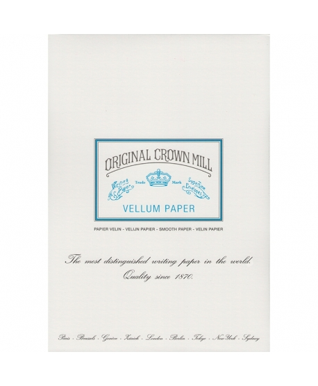 Original Crown Mill Classic Vellum bloc vitela A4 blanco