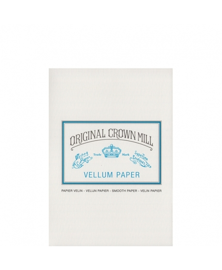 Original Crown Mill Classic Vellum bloc A5 white