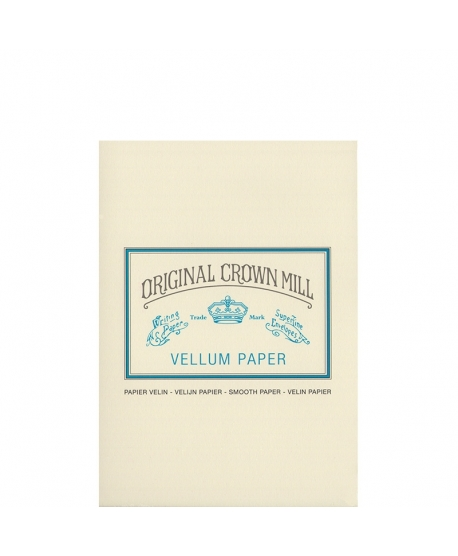 Original Crown Mill Classic Vellum bloc velin A5 crème