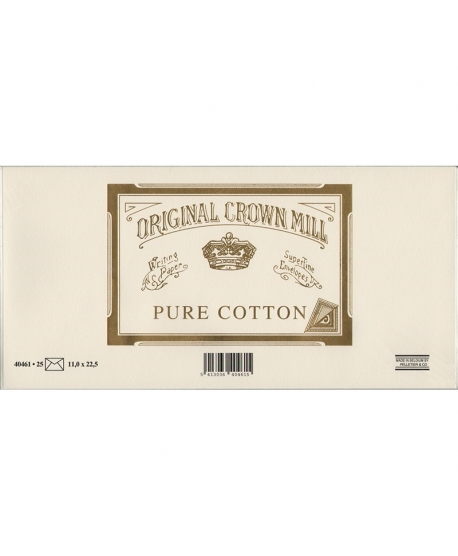 Original Crown Mill envelopes Pure cotton DL