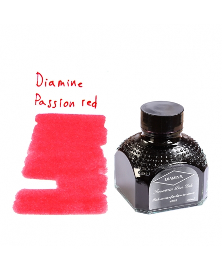 Diamine PASSION RED (80 ml bottle of ink)