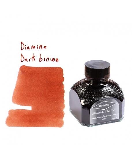 Diamine DARK BROWN (80 ml bottle of ink)