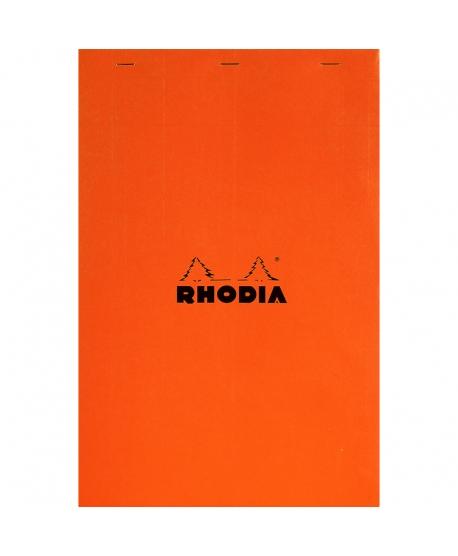 Rhodia n.º 18 Bloc A4+ naranja cuadriculado 5x5