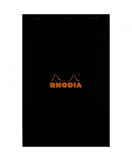Rhodia n.º 19 Bloc A4+ negro cuadriculado 5x5