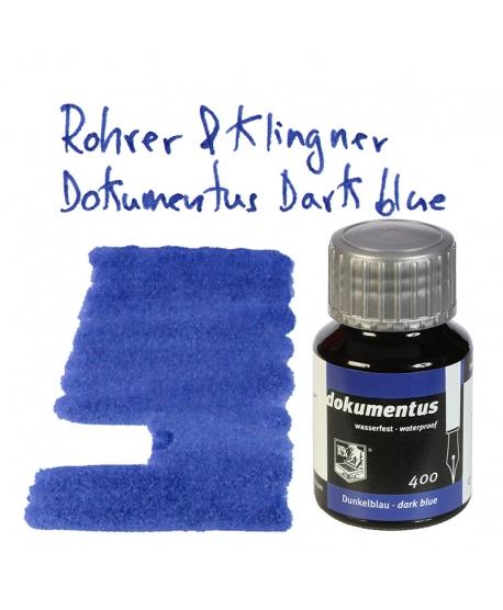 Rohrer & Klingner DOKUMENTUS BLUE BLACK (Tintero 50 ml)