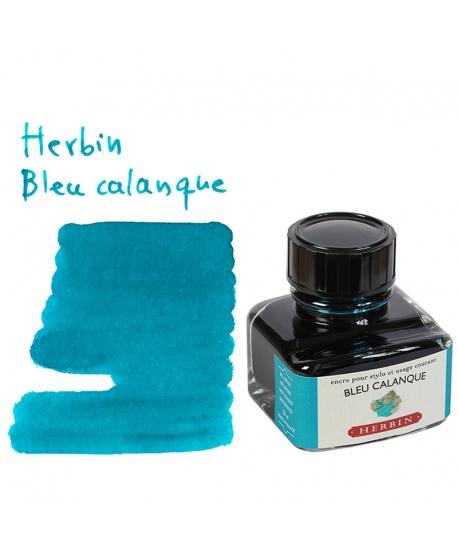 Herbin BLEU CALANQUE (Bouteille d' encre 30 ml)