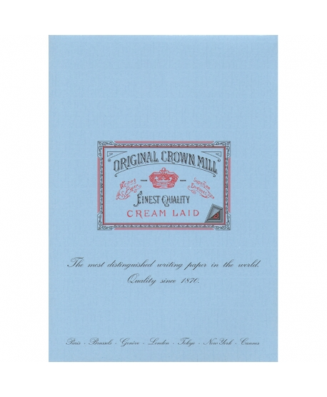 Original Crown Mill Classic Laid bloc verjurado A4 azul