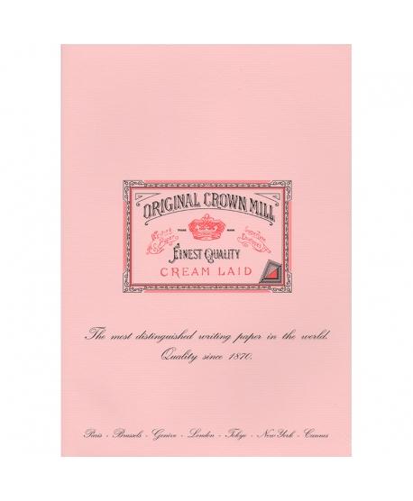 Original Crown Mill Classic Laid bloc verjurado A4 rosa