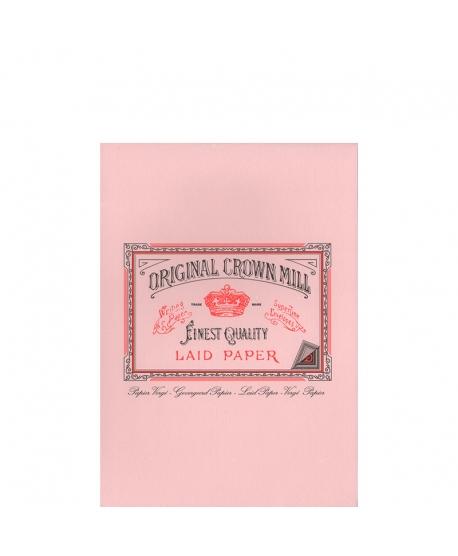 Original Crown Mill Classic Laid bloc verjurado A5 rosa