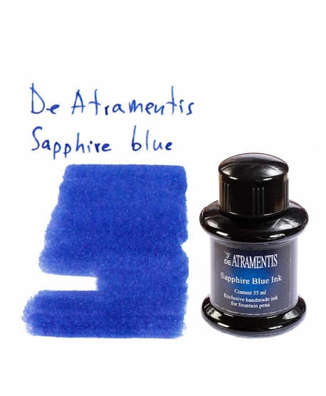De Atramentis SAPPHIRE BLUE (35 ml bottle of ink)