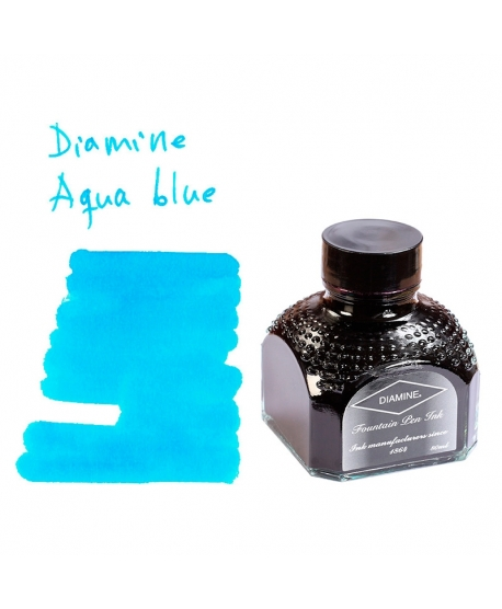 Diamine AQUA BLUE (80 ml bottle of ink)