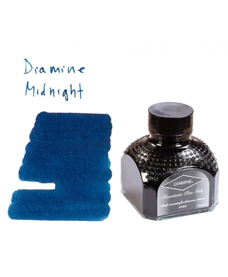 Diamine MIDNIGHT (80 ml bottle of ink)