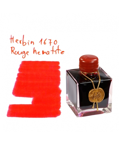 Herbin 1670 ROUGE HEMATITE (50 ml bottle of ink)