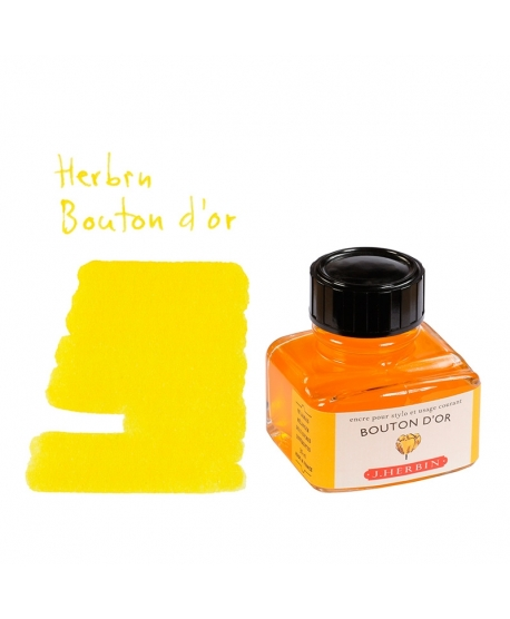 Herbin BOUTON D'OR (Bouteille d'encre 30 ml)