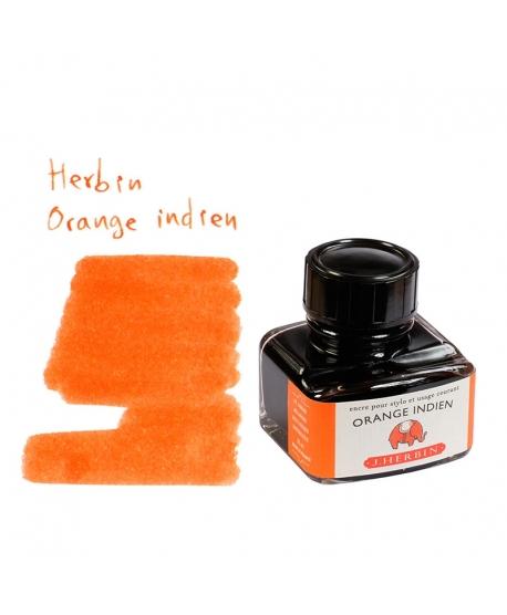 Herbin ORANGE INDIEN (Bouteille d' encre 30 ml)