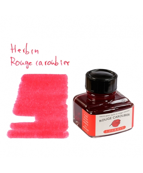 Herbin ROUGE CAROUBIER (Bouteille d' encre 30 ml)