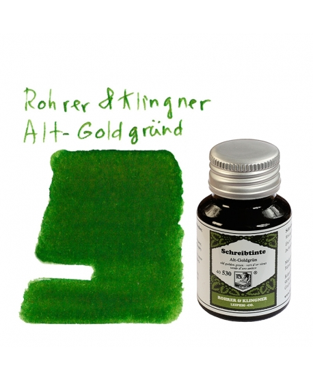 Rohrer & Klingner ALT-GOLDGRÜND (50 ml bottle of ink)