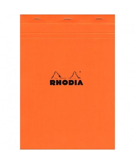 Rhodia n.º 18 Bloc A4 Naranja cuadriculado 5x5