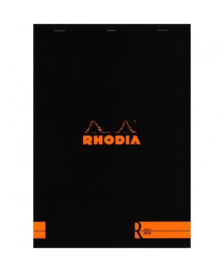 Rhodia n.º 18 Le R A4 Negro rayado