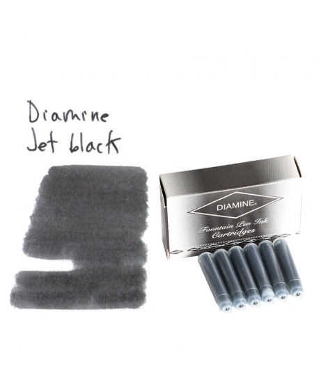 Diamine JET BLACK (Cartuchos)